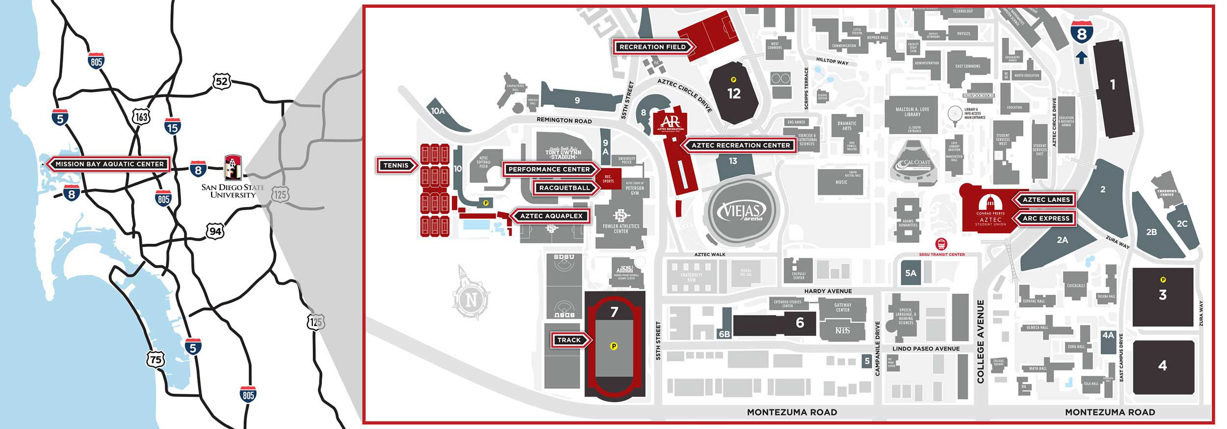 San Diego State University AR Map