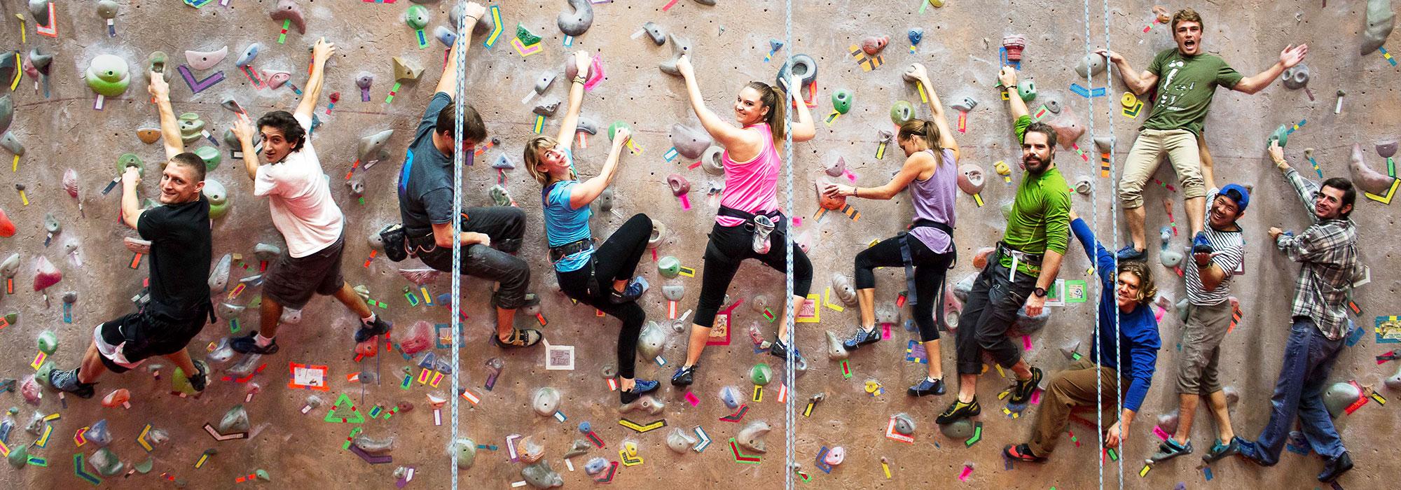 Climbing Wall ParticipantsThe Climbing Wall is an Aztec Recreation membership be