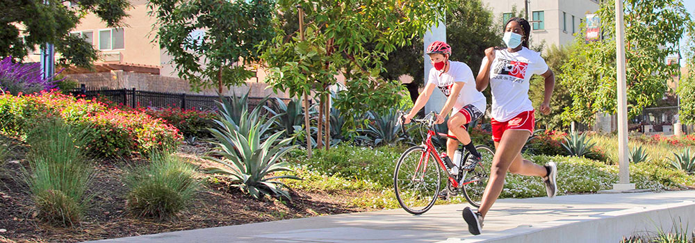 Outdoor running/bicycling race event at SDSU