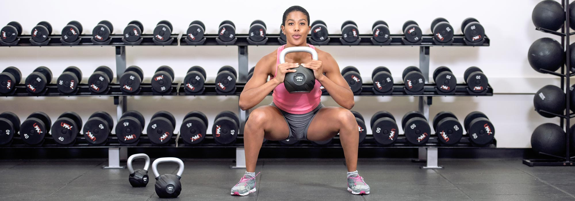Woman doing weights
