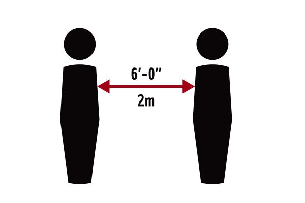 Physical Distance (6 feet) Illustration
