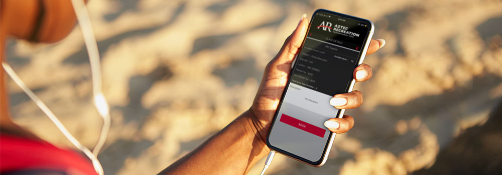 Aztec Rec mobile app on mobile phone