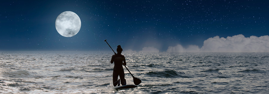Moonlight Stand Up Paddling