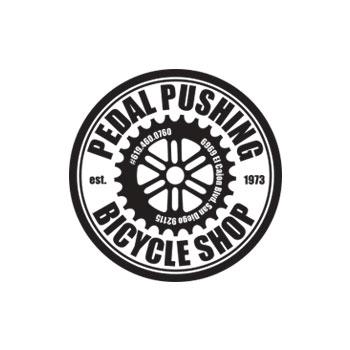 Pedal Pushing Bicycle Shop Logo